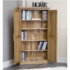 Cd And Dvd Storage Cabinet With Doors Oak Finish Solid Oak Furniture Oak Cd Dvd Cupboard Home Furniture Arden