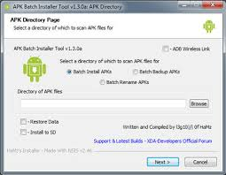 android apk apps apk batch installer install backup restore rename android apps