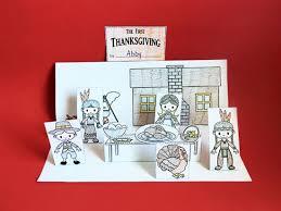 thanksgiving diorama