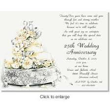 25th wedding anniversary invitations 25th wedding anniversary invitation wording vertabox