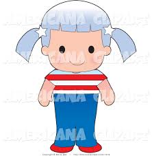Cute American Flag Shirts Americana Vector Clip Art Of A Cute American Wearing A Flag