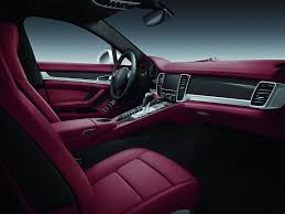 pink porsche interior porsche panamera 4s exclusive middle east edition introduced at
