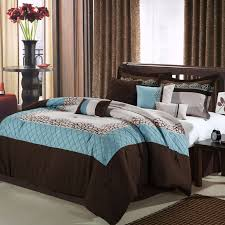 Blue And Beige Bedrooms by Mustang Brown Blue Beige 8 Piece Queen Comforter Bed In A Bag