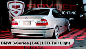 Spyder Auto Installation 2002 05 Bmw 3 Series 4 Door E46 Led Tail