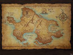 Pull Down World Map by Make An Ancient Looking Map Of Neverland Peter Pans Nursery And
