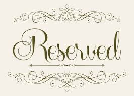 printable reserved table signs wedding seating reserved sign 5 x 7 wedding reserved signs template