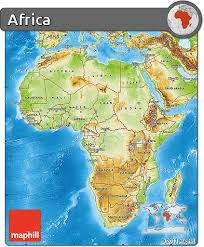 africa map physical free physical map of africa