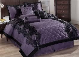 home design comforter black and purple comforter sets bedding home design ideas