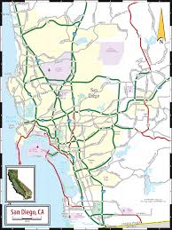 San Diego Attractions Map by San Diego Ca Map