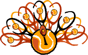 tennis thanksgiving turkey graphic royalty free stock