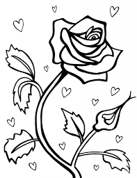 coloring pages roses fablesfromthefriends com
