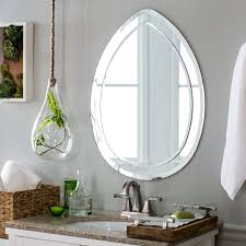 Modern Bathroom Mirrors by Decor Wonderland Droplet Modern Bathroom Mirror 23w X 31h In