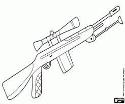 Coloriage Un fusil de sniper à imprimer
