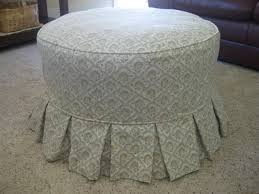 Chair And Ottoman Slipcovers Ottoman Beautiful Img Ottoman Slipcover Round Couch Covers