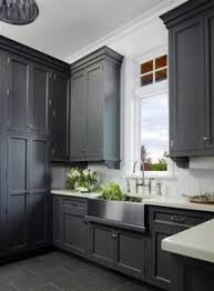 Slate Grey Kitchen Cabinets Cabinetry Slate Floors Stainless Steel Sink More Gray Kitchen