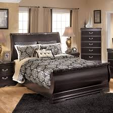 Sleigh Bedroom Furniture Wood Sleigh Bed By Furniture