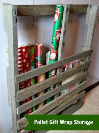 pallet gift wrap storage the creek line house