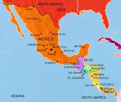 south america map belize map of mexico and central america at 1914ad timemaps