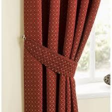 Marrakech Curtain Belfield Furnishings Marrakech Spice Geometric Pencil Pleat