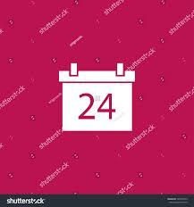 calendar 24 date thanksgiving day twenty stock vector 520555543