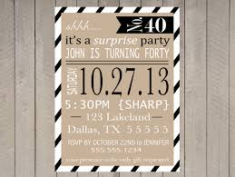 surprise party invitation printable 40th birthday 50th