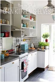 shelves in kitchen ideas garage wood counters with open kitchen cabinets styling open