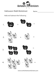 halloween math worksheet printable holiday coloring pages