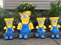 Garden Crafts Ideas Terrace And Garden Minions Clay Pots 20 Wonderful Garden Crafts