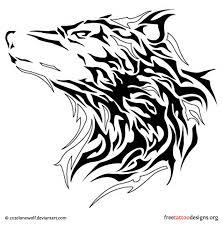 tribal wolf head tattoo idears pinterest tribal wolf wolf