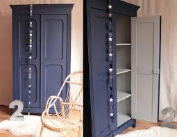 armoire vintage chambre armoire parisienne penderie chambre enfant bleu nuit gris clair
