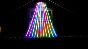 String Christmas Tree Lights by Christmas Mega Tree Led Flex String Pixelnet Youtube