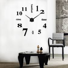 amazon com hippih modern 3d frameless large wall clock style amazon com hippih modern 3d frameless large wall clock style watches hours diy room home decorations model max3 home kitchen