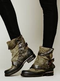 over ankle boots motorcycle free people emerson ankle boot in green lyst