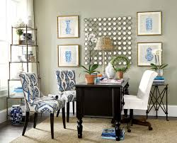 how to decorate your office at work decorating office space blue and white office space idea