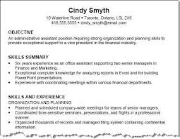 Sample Resumes For Office Assistant by Large Size Of Resumeexamples Of Objectives To Put On A Resume Best