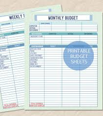 10 weekly budget templates u2013 free sample example format