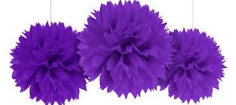 purple decorations purple fluffy decorations 3ct party city