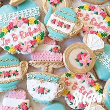 bridal tea party tea party bridal shower cookies pinteres