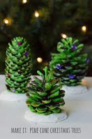 natural christmas decorations pine cone trees growing family
