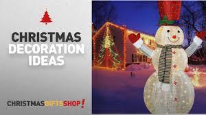 top outdoor snowman decorations 60 led popup snowman