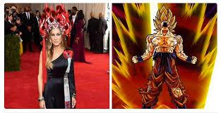 Saiyan Halloween Costume Hollywood Listers Dress U0027chinese U0027 Met Gala Supplying