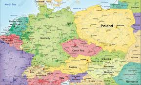 vector maps political vector map central europe 835 the world of maps