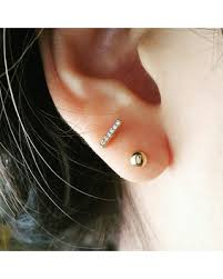 best earrings for cartilage find the best savings on cz tiny bar earring bar cartilage