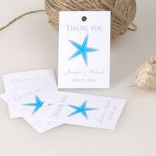 wedding favor tags blue starfish thank you card summer wedding favor tag ewfr022 as