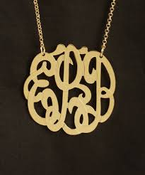 monogram necklaces gold 1 3 4 inch gold vermeil monogram necklace purple mermaid designs