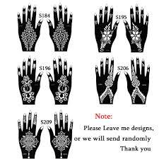 1 satz heißer hohl temporäre henna tattoo schablonen vorlagen