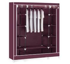 wardrobe double cream canvasrobe clothes rail hanging storage
