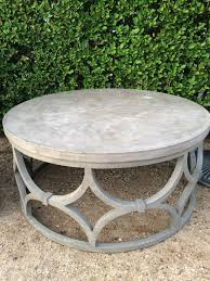 angelo home concrete and wood coffee table round nest