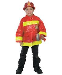 Fireman Costume Firefighter Costume Kids Costume Red Fire Halloween Costume