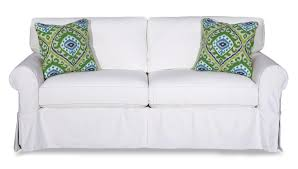 slipcovers for sofas with loose cushions cottage style slipcover sofa with rolled arms and kick pleat skirt